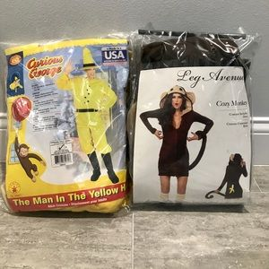 His & Hers Curious George Costumes